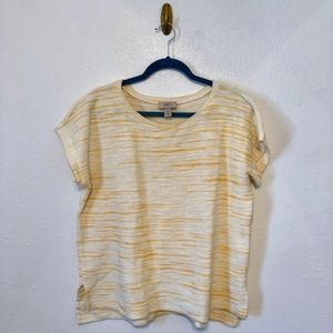 Yellow LOFT Short Sleeved Knit Top
